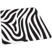 Aleco® Zebra Design Hard Floor Office Chair Mat 36 x 48 Rectangle, Beveled Edge