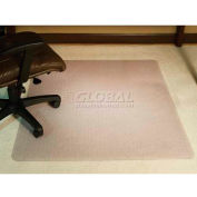 "Aleco® AnchorBar® Office Chair Mat, Rectangle, 46""W x 60""L, .130"" Thick, Beveled Edge"