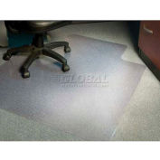 "Aleco® AnchorBar® Office Chair Mat with Lip 45""W x 53""L .110"" Thick Crystal Beveled Edge"