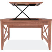 Alera® Sit-to-Stand Table Desk - Modern Walnut - Valencia Series