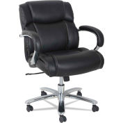 Alera® Big and Tall Leather Chair - High-Back - 350 Lb. Capacity - Black - Maxxis Series