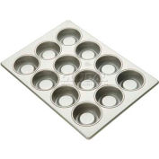 "Allied Metal Spinning ALL43375 - Flexipan, 12 Cup, 3-3/8"" Top ID x 1-1/2"" Deep, Jumbo Muffin Pan"
