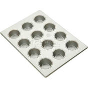 """Allied Metal Spinning ALL43695 - Flexipan, 12 Cup, 3-11/16"""" Top ID x 1-13/16"""" Deep, Muffin Pecan Pan"""