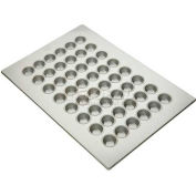 "Allied Metal Spinning ALL45255 - Muffin Pan,  48 Cup, 2-1/16"" Top ID x 1-1/8"" Deep, Mini Muffin Pan"