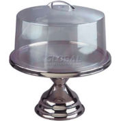 Allied Metal Spinning CC125 - Cake Cover, Lucite With Chrome Handle