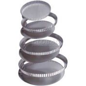 """Allied Metal Spinning CCPSETF8X15 - Cake Set, 8"""" x 1-1/2"""", Removable Bottom, Straight Side, Fluted"""