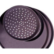 """Allied Metal Spinning CPTHPA9X2 - Pizza Pan, 9"""" Top ID x 2"""", Perforated, 14 Ga., Hard Coat"""