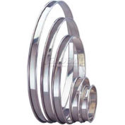 "Allied Metal Spinning FR4970 - Tart/Flan Ring, 9-5/8"" ID x 3/4"", Rolled Edge, Stainless Steel"