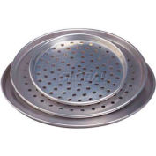 "Allied Metal Spinning FSP16 - Pizza Pan, 16"" Top ID x 3/4"", Tapered, Nesting, Perforated, 16 Ga."