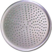 """Allied Metal Spinning SPA28 - Pizza Tray, 28"""" OD, Coupe, Perforated, 18 Ga., Anodized Hard Coat"""