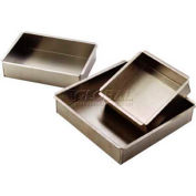 "Allied Metal Spinning SQ16161 - Square Baking Pan, 16""ID x 16""ID x 1""H, 14 Ga. Aluminum"