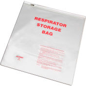 "Allegro 2000 Respirator Storage Bag with Zipper, 14"" x 16"""