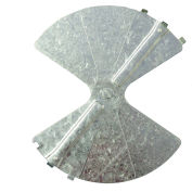 "American Louver Balancing Damper, Radial, Galvanized steel, 12"", PK10"