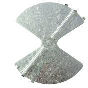 "American Louver Balancing Damper, Radial, Galvanized steel, 8"", PK2"