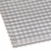 """American Louver Eggcrate Grille Panel, Oversized, Alum, Mill, 48"""" x 48"""", PK10"""