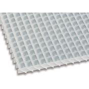 American Louver Sight-Guard Eggcrate Panel, Angled 45 degrees,  Aluminum, White, PK2