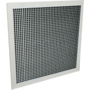 """American Louver Sight Guard Return Grille W/ 45 Degree Sight Proof Core 10"""" x 22"""", White, 2 Pack"""