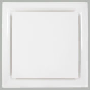 American Louver Stratus Plastic Plaque Diffuser for T-Grid Ceiling, R6 Insulated, White