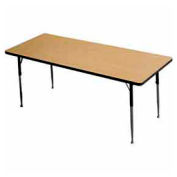 "Activity Table, 24"" X 48"", Rectangle, Juvenile Adj. Height, Light Oak - Pkg Qty 2"