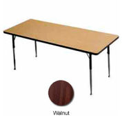 "Activity Table, 30"" X 48"", Rectangle, Juvenile Adj. Height, Walnut - Pkg Qty 2"