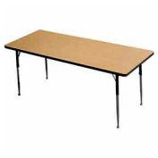 "Activity Table, 30"" X 60"", Rectangle, Juvenile Adj. Height, Light Oak - Pkg Qty 2"