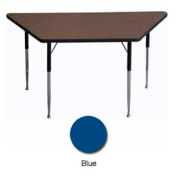 "Activity Table, 30"" X 30"" X 60"", Trapezoid, Juvenile Adj. Height, Blue - Pkg Qty 2"