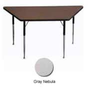 "Activity Table, 30"" x 30"" x 60"", Trapezoid, ADA Compliant Adj. Height, Gray Nebula  - Pkg Qty 2"