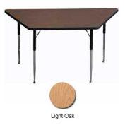 "Activity Table - Trapezoid - 30"" X 30"" X 60"", Standard Adj. Height, Light Oak"