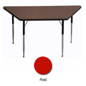 "Activity Table, 30"" X 30"" X 60"", Trapezoid, ADA Compliant Adj. Height, Red - Pkg Qty 2"