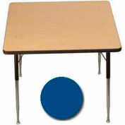 "Activity Table, 36"" X 36"", Square, Juvenile Adj. Height, Blue - Pkg Qty 2"