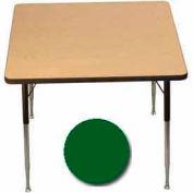 "Activity Table, 36"" X 36"", Square, Standard Adj. Height, Green - Pkg Qty 2"