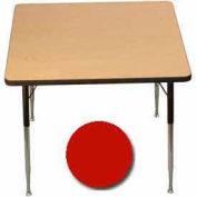 """Activity Table, 36"""" X 36"""", Square, ADA Compliant Adj. Height, Red - Pkg Qty 2"""