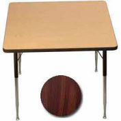 "Activity Table, 36"" X 36"", Square, Standard Adj. Height, Walnut - Pkg Qty 2"