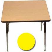 "Activity Table, 36"" X 36"", Square, Juvenile Adj. Height, Yellow - Pkg Qty 2"