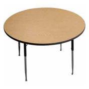 "Activity Table, 36"" Diameter, Round, ADA Compliant Adj. Height, Light Oak - Pkg Qty 2"