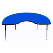 "Activity Table, 48"" x 72"", Kidney, Standard Adj. Height, Blue"