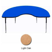 "Activity Table, 48"" x 72"", Kidney, ADA Compliant Adj. Height, Light Oak"