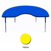 "Activity Table, 48"" x 72"", Kidney, ADA Compliant Adj. Height, Yellow"
