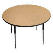 "Activity Table, 48"" Diameter, Round, Standard Adj. Height, Light Oak - Pkg Qty 2"