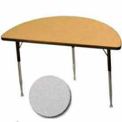 "Activity Table, 24"" X 48"", Half-Round, Juvenile Adj. Height, Gray Nebula - Pkg Qty 2"