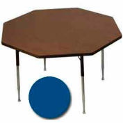 "Activity Table, 48"" Diameter, Octagon, Juvenile Adj. Height, Blue - Pkg Qty 2"
