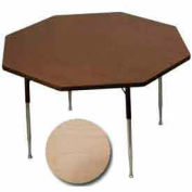 "ADA Activity Table - Octagon - 48"" Diameter, Adj. Height, Fusion Maple"