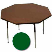 "Activity Table, 48"" Diameter, Octagon, Standard Adj. Height, Green - Pkg Qty 2"