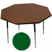 "Activity Table, 48"" Diameter, Octagon, ADA Compliant Adj. Height, Green - Pkg Qty 2"