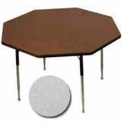 "Activity Table, 48"" Diameter, Octagon, Standard Adj. Height, Gray Nebula - Pkg Qty 2"