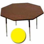 "Activity Table, 48"" Diameter, Octagon, Standard Adj. Height, Yellow - Pkg Qty 2"