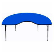 "Activity Table, 48"" x 96"", Kidney, Standard Adj. Height, Blue"