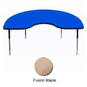 "Activity Table, 48"" x 96"", Kidney, ADA Compliant Adj. Height, Fusion Maple"