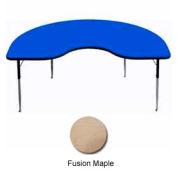"Activity Table, 48"" x 96"", Kidney, Juvenile Adj. Height, Fusion Maple"