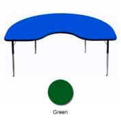"Activity Table, 48"" x 96"", Kidney, ADA Compliant Adj. Height, Green"